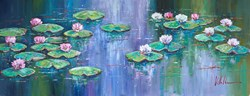 Serene I by Villalba - Original Painting on Box Canvas sized 51x20 inches. Available from Whitewall Galleries